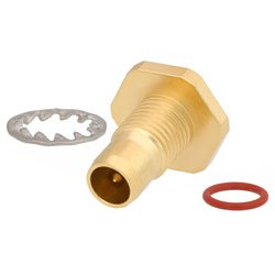 BMA Plug Bulkhead Slide-On Connector Solder/Non-Solder Contact Attachment For RG405, .086 SR Cable Gold Plated