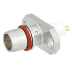 BMA Plug Slide-On Connector Stub Terminal Solder Attachment 2 Hole Flange , .481 inch Hole Spacing Rated to 18GHz