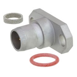 BMA Plug Slide-On Connector Field Replaceable Attachment 2 Hole Flange , .481 inch Hole Spacing With EMI Gasket and .012 inch Pin