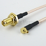 RA MMCX Plug to SMA Female Cables