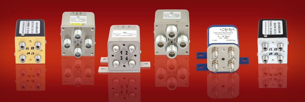 Fairview electromechanical relay transfer switches that cover frequencies from DC to 40 GHz