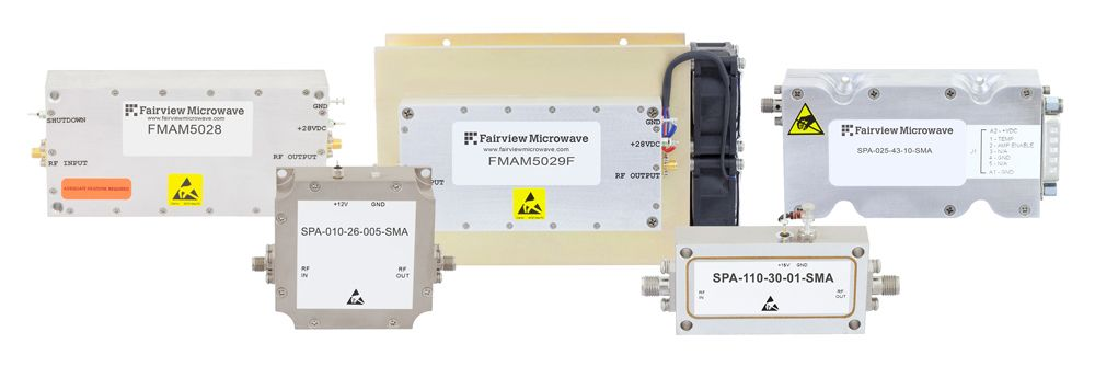 High-Rel Power Amplifiers with Broadband Frequency Ranges from 0.5 MHz to 20 GHz Introduced by Fairview Microwave