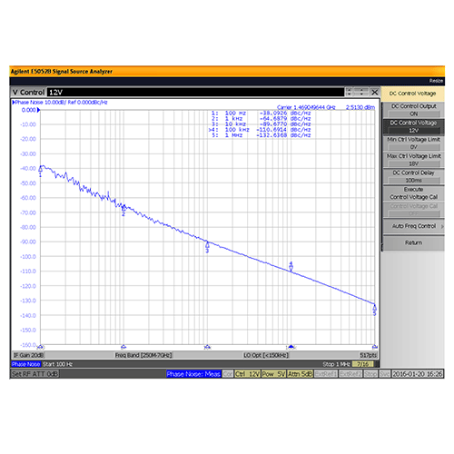 VCO (Voltage Controlled Oscillator) 0.175 inch Commercial Frequency of 800 MHz to 1.6 GHz, Phase Noise -93 dBc/Hz