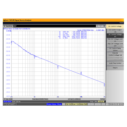 VCO (Voltage Controlled Oscillator) 0.175 inch Commercial Frequency of 2 GHz to 2.75 GHz, Phase Noise -86 dBc/Hz