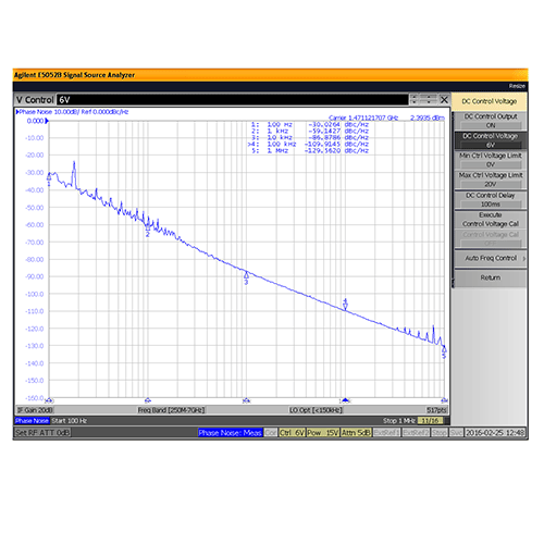 VCO (Voltage Controlled Oscillator) 0.95 inch Commercial Frequency of 1.2 GHz to 1.8 GHz, Phase Noise -89 dBc/Hz