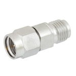 2.92mm Male (Plug) to 2.4mm Female (Jack) Adapter, Passivated Stainless Steel Body, High Temp, 1.25 VSWR