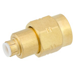 SMA Male to MMBX Plug Snap-On Adapter With Male Center Contact