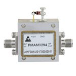 2.5 dB NF, 6 GHz to 18 GHz, Low Noise Broadband Amplifier with 10 dBm, 30 dB Gain and SMA