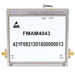 2 GHz to 6 GHz, Medium Power Broadband Amplifier with 3 Watt, 44 dB Gain and SMA