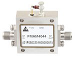 6 GHz to 12 GHz, Medium Power Broadband Amplifier with 500 mW, 16 dB Gain and SMA