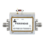 6 GHz to 12 GHz, Medium Power Broadband Amplifier with 500 mW, 28 dB Gain and SMA