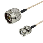 N Male to BNC Male Cable RG-316 Coax and RoHS Compliant