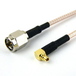 SMA Male to RA MMCX Plug Cable RG-316 Coax and RoHS