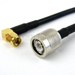 TNC Male to RA SMA Male Cable RG-58 Coax