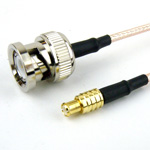 MCX Plug to BNC Male Cable RG-316 Coax and RoHS with LF Solder