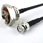 BNC Male to 7/16 DIN Male Cable LMR-240 Coax