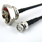 BNC Male to 7/16 DIN Male Cable LMR-240 Coax and RoHS