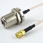 N Female Bulkhead to SMA Female Cable RG316 Coax