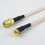SMA Female to RA MMCX Plug Cable RG-316 Coax
