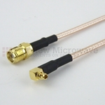 SMA Female to RA MMCX Plug Cable RG316 Coax