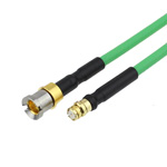 SMP Female to Smooth Bore SMP Male Bulkhead Cable SS405 Coax