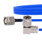 TNC Male to RA TNC Male Cable FM141FLEX Coax and RoHS Compliant