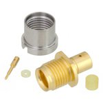 SMP Male Bulkhead Full Detent Connector Solder Attachment For RG405, RG405 Tinned, .086 SR Cable