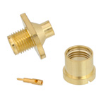 SMP Male Bulkhead Push-On Connector Solder Attachment For RG405 Cable