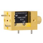 WR-10 Waveguide Up Converter Mixer From 75 GHz to 110 GHz, With an IF Range From DC to 18 GHz And LO Power of +13 dBm, UG-387/U Flange