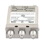 SPDT Failsafe DC to 26.5 GHz Electro-Mechanical Relay Switch, TTL, Diodes, Indicators, 20W, 12V, SMA