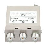 SPDT Latching DC to 26.5 GHz Electro-Mechanical Relay Switch, Self Cut Off, Diodes, 20W, 12V, SMA