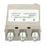 SPDT Latching DC to 26.5 GHz Electro-Mechanical Relay Switch, Self Cut Off, Diodes, 20W, 28V, SMA
