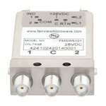 SPDT Latching DC to 26.5 GHz Electro-Mechanical Relay Switch, Indicators, TTL, Self Cut Off, Diodes, 20W, 28V, SMA