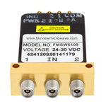 SPDT Latching DC to 40 GHz Electro-Mechanical Relay Switch, Indicators, TTL, Self Cut Off, Diodes, 10W, 28V, 2.92mm