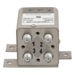 Transfer Latching DC to 26.5 GHz Electro-Mechanical Relay Switch, Self Cut Off, Diodes, 20W, 12V, SMA