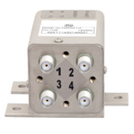 Transfer Latching DC to 26.5 GHz Electro-Mechanical Relay Switch, Indicators, TTL, Self Cut Off, Diodes, 20W, 12V, SMA