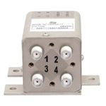 Transfer Latching DC to 26.5 GHz Electro-Mechanical Relay Switch, Indicators, TTL, Self Cut Off, Diodes, 20W, 28V, SMA