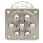 SP6T NO DC to 22 GHz Electro-Mechanical Relay Switch, 20W, 12V, SMA