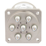SP6T NO DC to 22 GHz Electro-Mechanical Relay Switch, 20W, 28V, SMA
