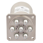 SP6T NO DC to 22 GHz Electro-Mechanical Relay Switch, Indicators, TTL, Diodes, 20W, 12V, SMA