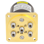 SP4T NO DC to 40 GHz Electro-Mechanical Relay Switch, Indicators, TTL, Diodes, 3W, 28V, 2.92mm