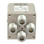 Transfer Latching DC to 12.4 GHz Electro-Mechanical Relay Switch, Self Cut Off, Diodes, 50W, 12V, N