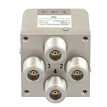 Transfer Latching DC to 12.4 GHz Electro-Mechanical Relay Switch, Self Cut Off, Diodes, 50W, 28V, N