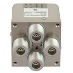 Transfer Latching DC to 12.4 GHz Electro-Mechanical Relay Switch, Indicators, TTL, Self Cut Off, Diodes, 50W, 12V, N
