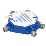 Field Replaceable SMA SP4T PIN Diode Switch Absorptive From 12 GHz to 18 GHz Rated at +20 dBm