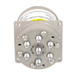 SP6T Latching DC to 22 GHz Terminated Electro-Mechanical Relay Switch, Self Cut Off, Diodes, 20W, 28V, SMA