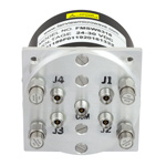 SP4T Latching DC to 40 GHz Terminated Electro-Mechanical Relay Switch, Self Cut Off, Diodes, Reset, 3W, 28V, 2.92mm
