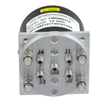 SP4T Latching DC to 40 GHz Terminated Electro-Mechanical Relay Switch, Self Cut Off, TTL, Indicators, Diodes, 3W, 12V, 2.92mm