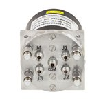 SP4T Latching DC to 40 GHz Terminated Electro-Mechanical Relay Switch, Indicators, TTL, Self Cut Off, Diodes, 3W, 28V, 2.92mm