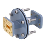 WR-90 Waveguide Bulkhead Adapter Using CPR-90G Flange and Operating from 8.2 GHz to 12.4 GHz